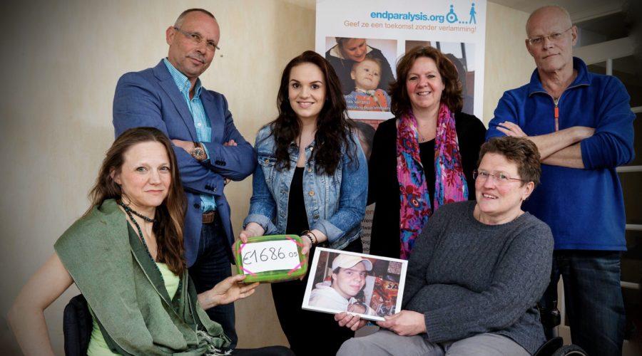 Bas Hoogendoorn: donatie voor dwarslaesie-onderzoek
